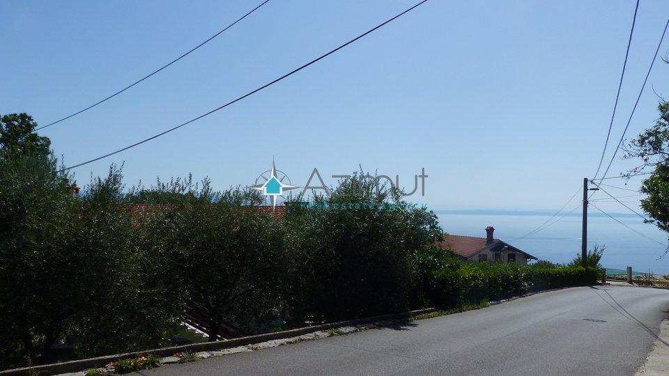 Lovran, građevinsko zemljište, s pogledom na more