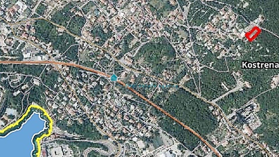 Kostrena, Glavani, građevinsko zemljište, 1240 m2