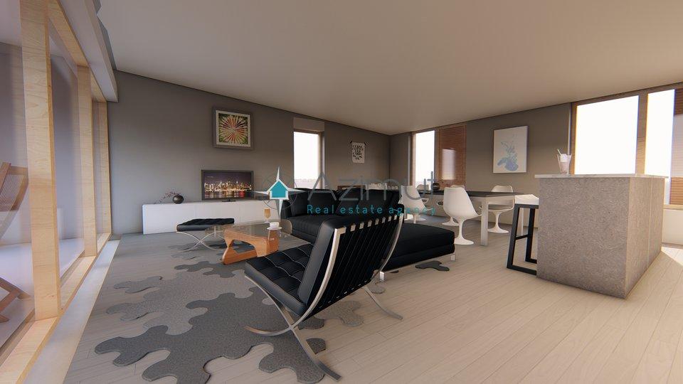 Malinska, Wohnung 125,70 m2, offenem Meerblick