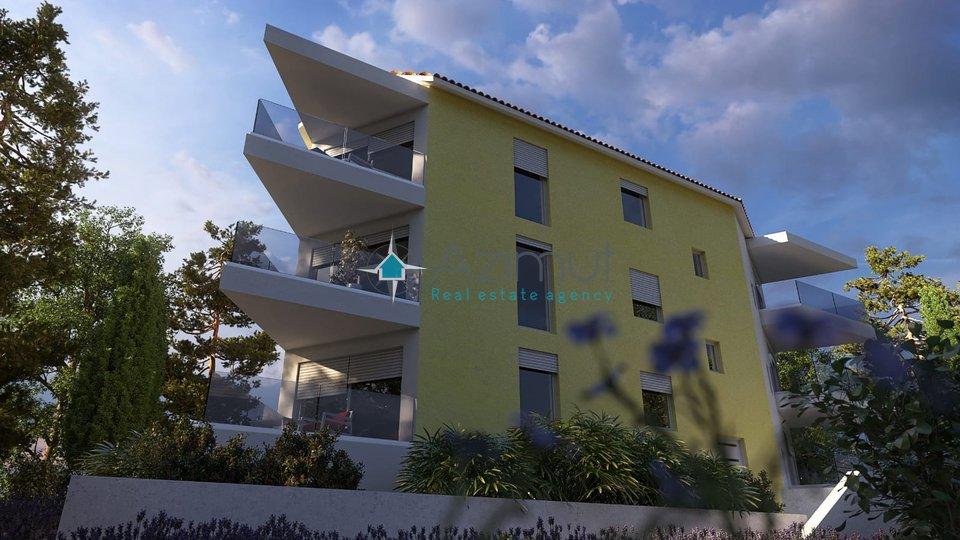 Srdoči, stan u novogradnji 3S+DB, 78 m2