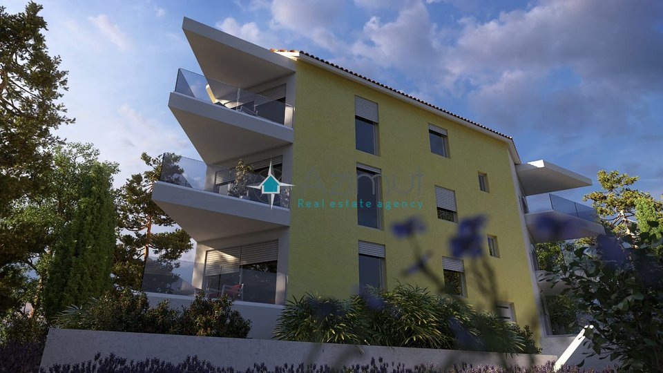 Srdoči, dvoetažni stan u novogradnji, 4S+DB, 175 m2