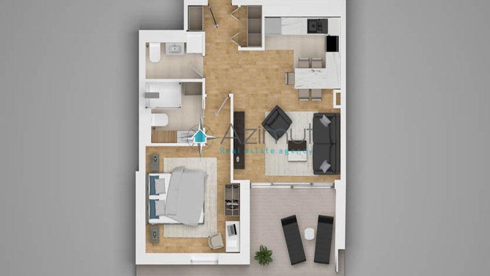 Opatija, stan, 1S+DB, 55,41 m2