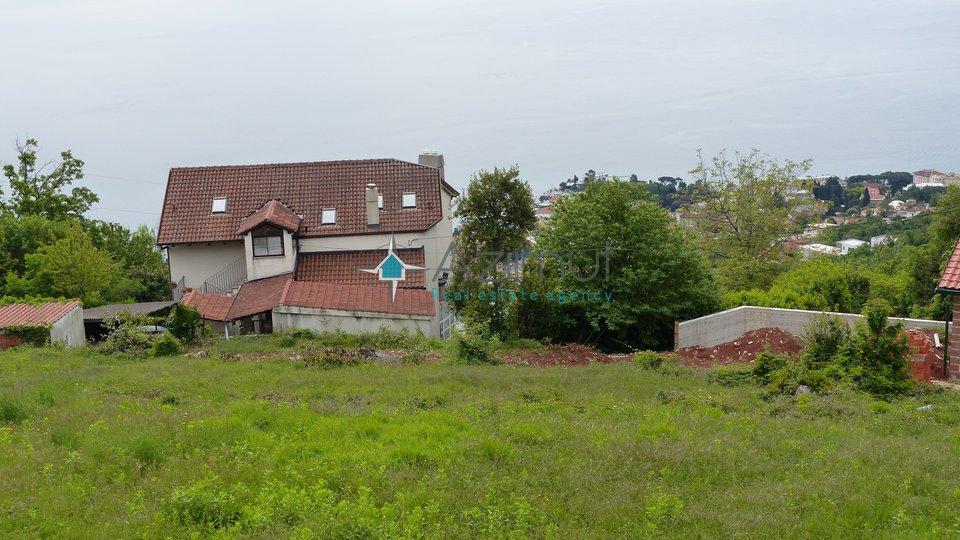 Matulji, Bregi, građevinsko zemljište, 1078 m2, sa pogledom na more