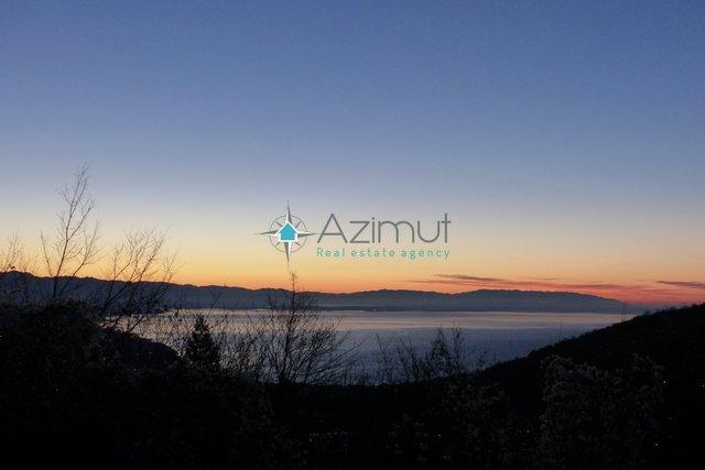 Rukavac, građevinkso zemljište, 1100m2, panoramski pogled na Kvarner